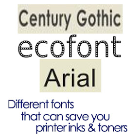 Different Fonts that Saves you Printer Ink & Toner
