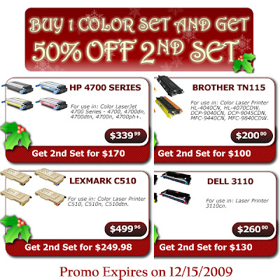Buy 1 Color Laser Printer Toner Set