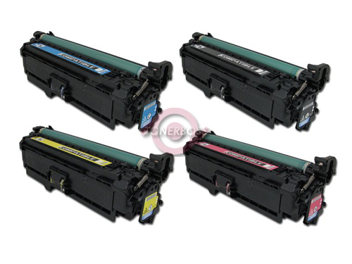 HP Laser toner cartridges Set A replaces HP CE250A, HP CE251A, HP CE252A, HP CE253A