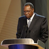 FIFA Vice prsident and CAF president Issa Hayatou at the 2009 FIFA Confederation Cup draw. ©Chris Ricco/Backpagepix