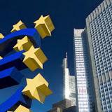 Siege, exterieur, symbole euro, monnaie unique europeenne