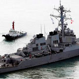 The U.S. Navy's Aegis destroyer USS John S. McCain (DDG-56) leaves a naval port in Busan, South Korea, Monday, March 30, 2009. South Korean President Lee Myung-bak said South Korea opposes any military response to North Korea's planned rocket launch, while Washington's defense chief said the U.S. won't try to shoot it down. (AP Photo/Yonhap, Jo Jung-ho) ** KOREA OUT **
