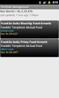 Screenshot of Indian Mutual Funds Tracker