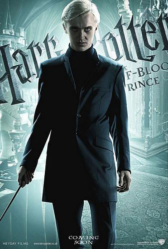 Harry Potter and the Half Blood Prince character poster featuring Draco Malfoy