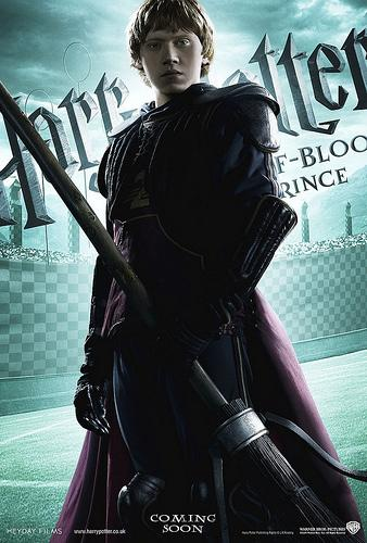 Harry Potter and the Half Blood Prince character poster featuring Ron Weasley<br />