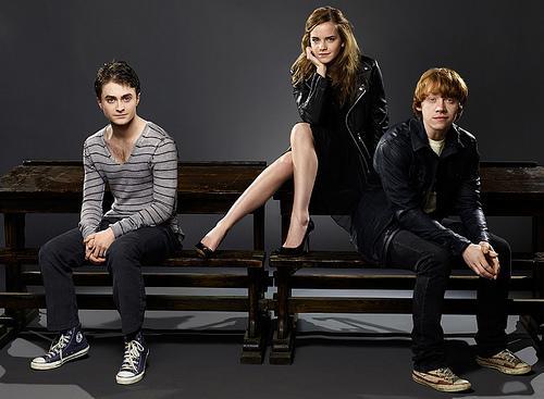 rupert grint and emma watson kissing scene. Emma Watson-Daniel Radcliffe