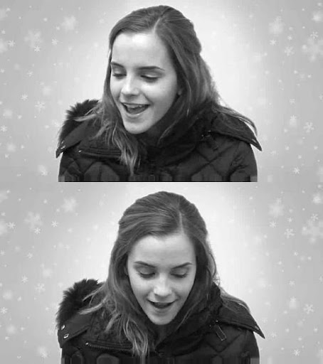 emma watson 2009 christmas pictures