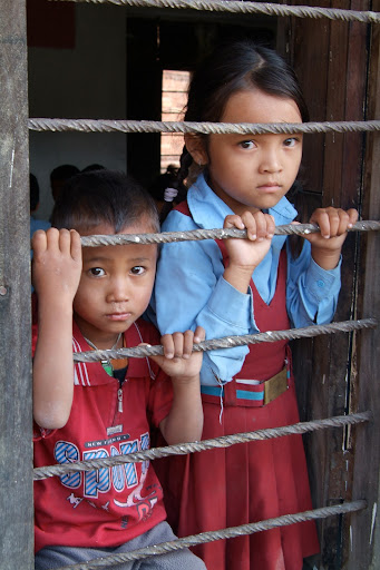 Children from the Shree Sharada School
