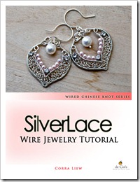 Step By Step Wire Jewelry Tutorial - Bridal SilverLace Earrings, Wired Chinese Knot