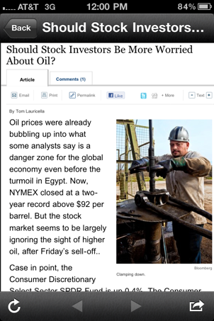 Oil on the rise