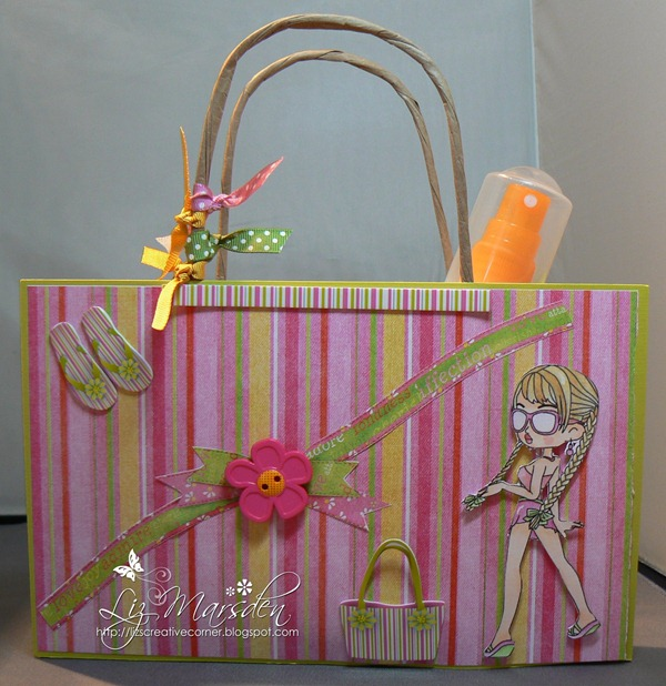 stitchy image, beach bag for creative craft DT