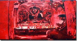 Prières, Le Monde ddes religions, Acrylique sur toile, 100x60.