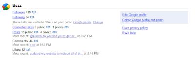 Google Buzz auf Dashboard