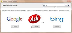 Chrome Suchmaschinen Auswahl