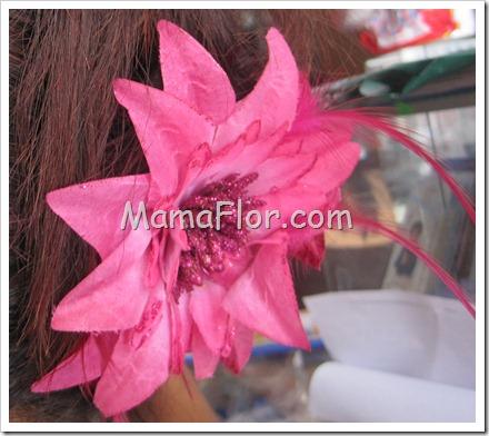 Reciclaje: Flores para el Cabello