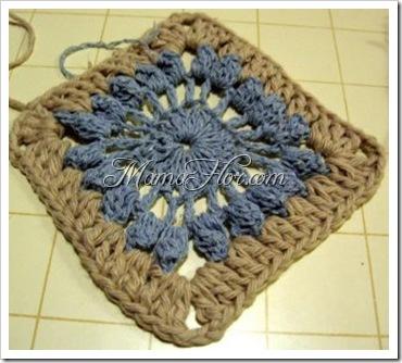 Pastilla cuadrada tejida a crochet II