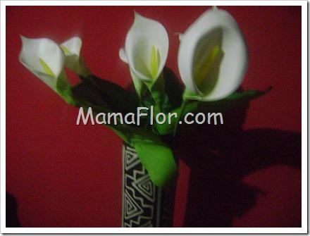 Como hacer flores de azucenas para decorar sus floreros
