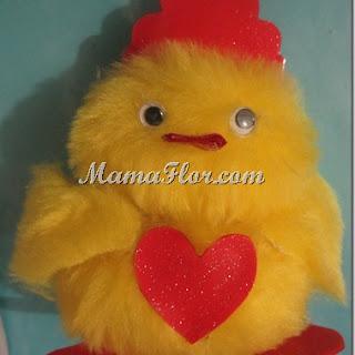 Peluches: pollito reyna cañosita…