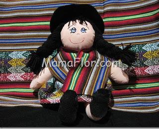 Aprende a coser una Muñeca de Trapo, con vestimenta de la Sierra de Peru