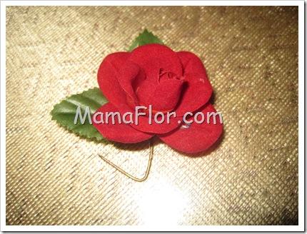 Como hacer una flor con tela de pana