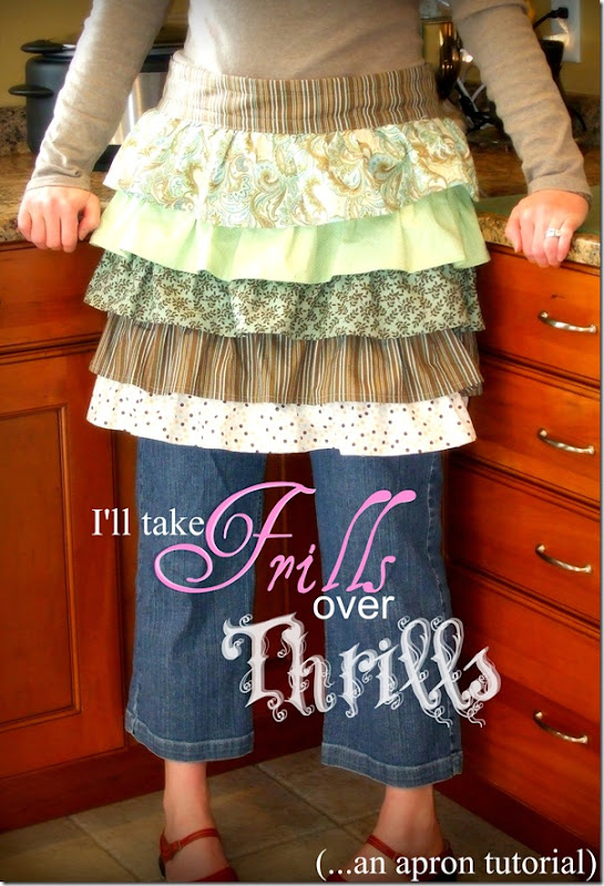 Frills Over Thrills Apron