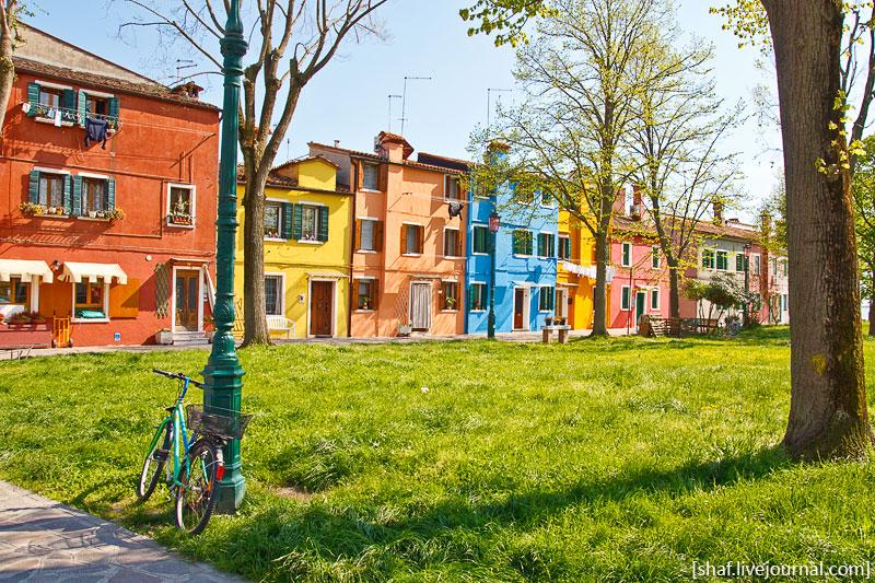 Италия, остров Бурано, цветные домики | Venezia, Burano, Italy | Benatky, Italie