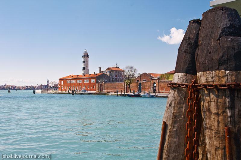 Италия, остров Мурано, маяк | Venezia, Murano, Italy | Benatky, Italie
