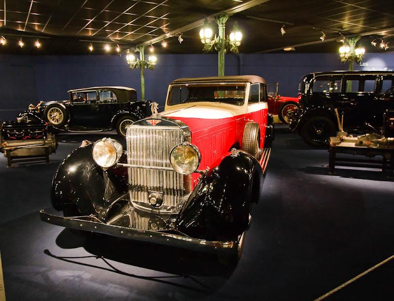Автомузей; Национальный музей автомобилей, Мюлуз (Mulhouse), Франция; Hispano-Suiza, Cabriolet J12, 1933