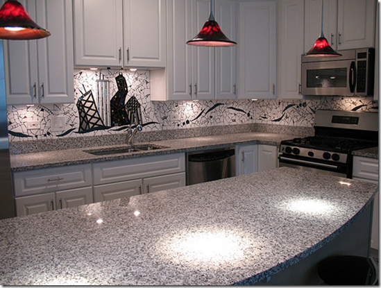 busy granite and a busy backsplash does not equal beautiful it just