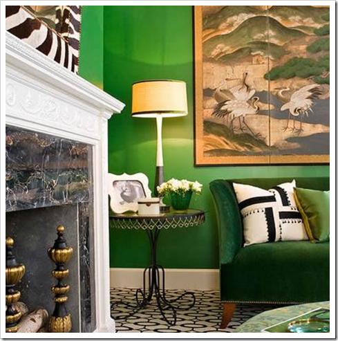 Color verde para las paredes interiores3de decoracion - Paredes en verde ...