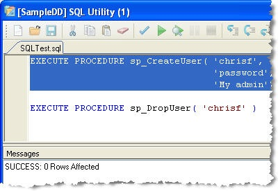 SQL User System Procedures