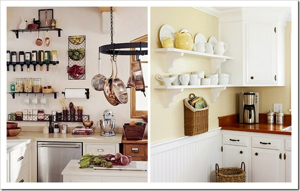 Shabby and charme mensole in cucina - Mensole cucina country ...