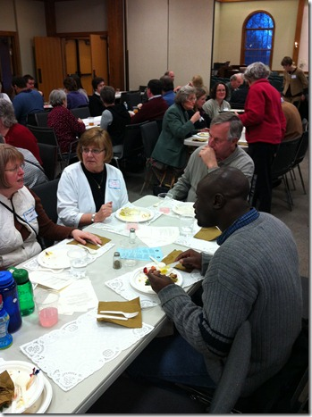 Table fellowship at Festival of Friends