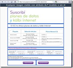 Página de planes kölbi en modo de correción de etiquetas ALT
