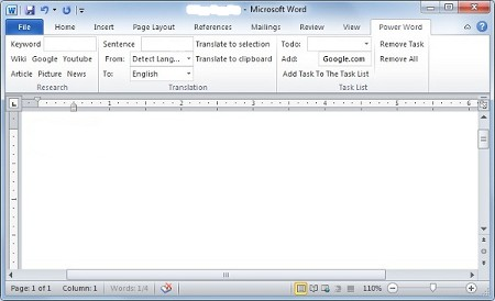 Microsoft Office Word 2010 Power Word dodatak za Writers