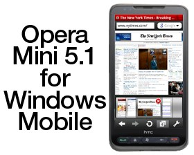 download besplatni programi Opera Mini 5.1 za Windows Mobile mobilne telefone