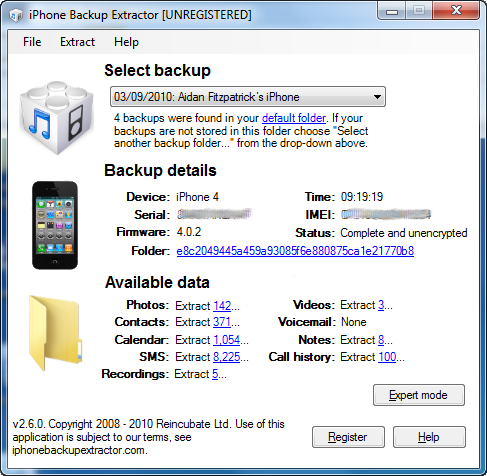 Download iPhone Backup Extractor