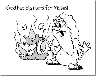 Moses Burning Bush Printables1