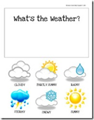 calendar supplies. weather cards