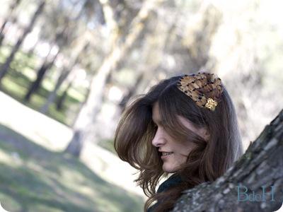 Diadema marrón