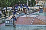 Alvaro Esteller. Tailslide. Skatepark of Rota