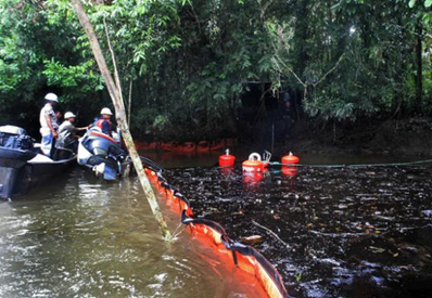 The film 'Crude' shows the extent of the environmental damage in the Amazon rainforest. AFP / Getty Images