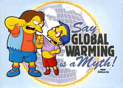 Nelson: Say global warming is a myth! Matt Groening