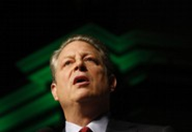 Former Vice President Al Gore speaks about energy and the future July 17, 2008, at Constitution Hall in Washington, D.C.