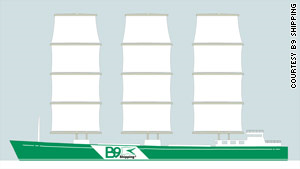 B9 expects its 100% carbon-neutral trading ship to be in production by 2012. B9 Shipping
