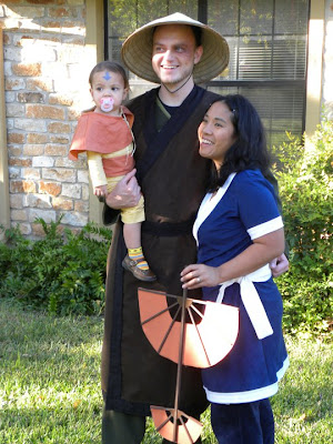 our family costumes for halloween 2010 are from the nickelodeon cartoon avatar the last airbender