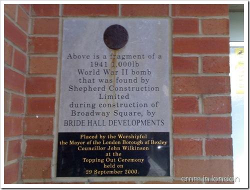Bomb fragment in Bexley