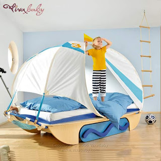 Children's bed unique sailing vessels, photos and image