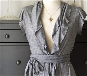 Grey Ruffle Shirt