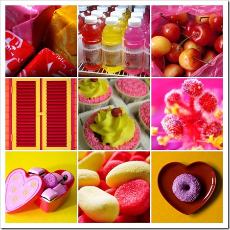 Pink Yellow Red